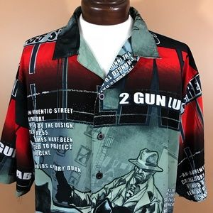 RP55 Gangster comic design all over print shirt 3X